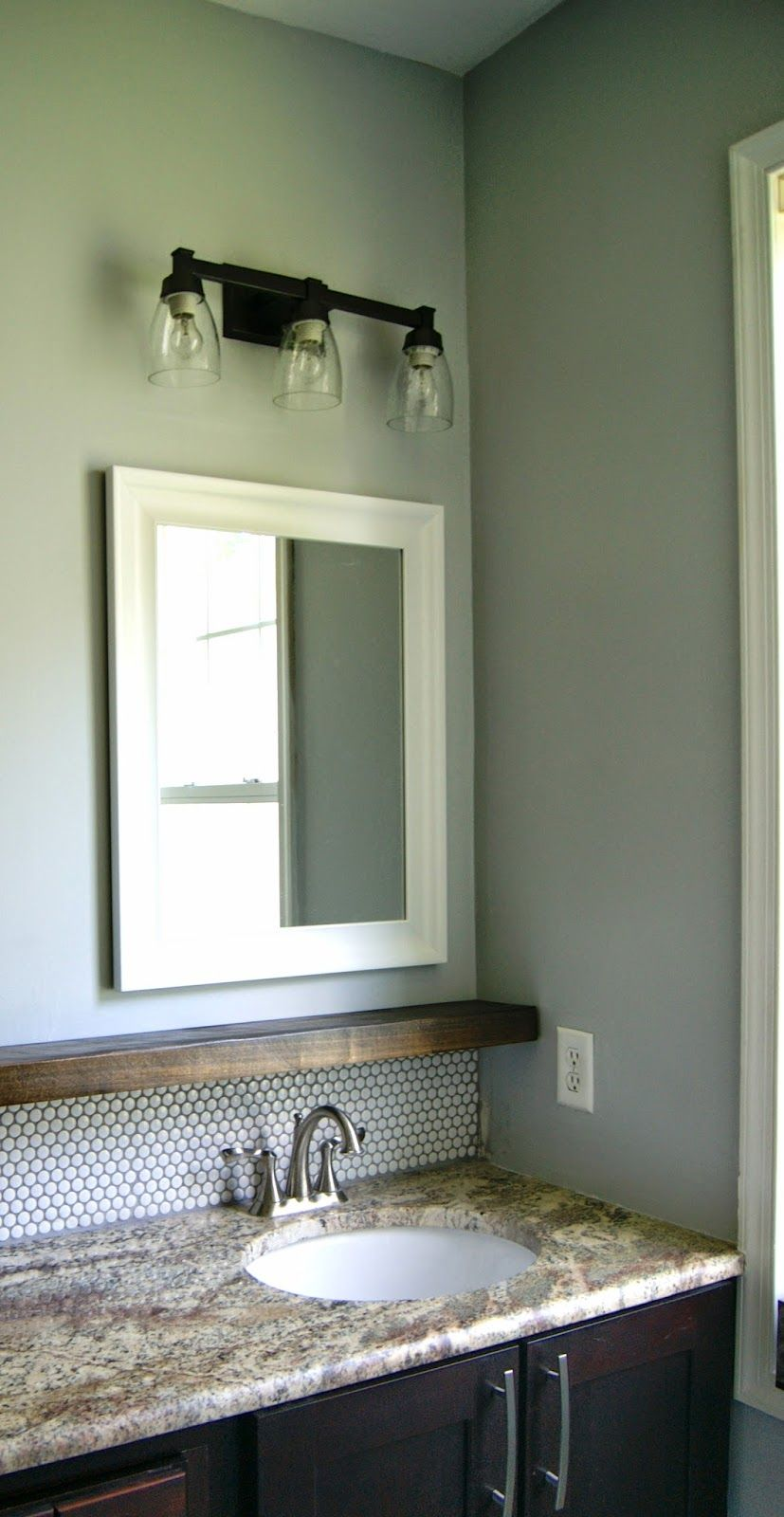 Master Bathroom Shelf | Small sink, Clutter and Sinks
