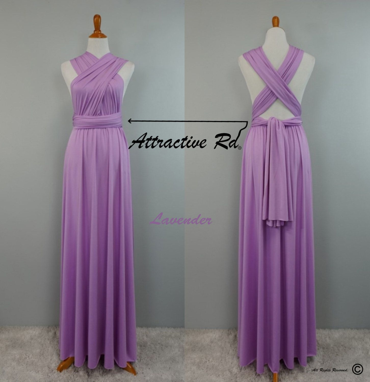 Lavender Bridesmaid Dresses, Prom Dresses, Multiway Dress, Wedding ...