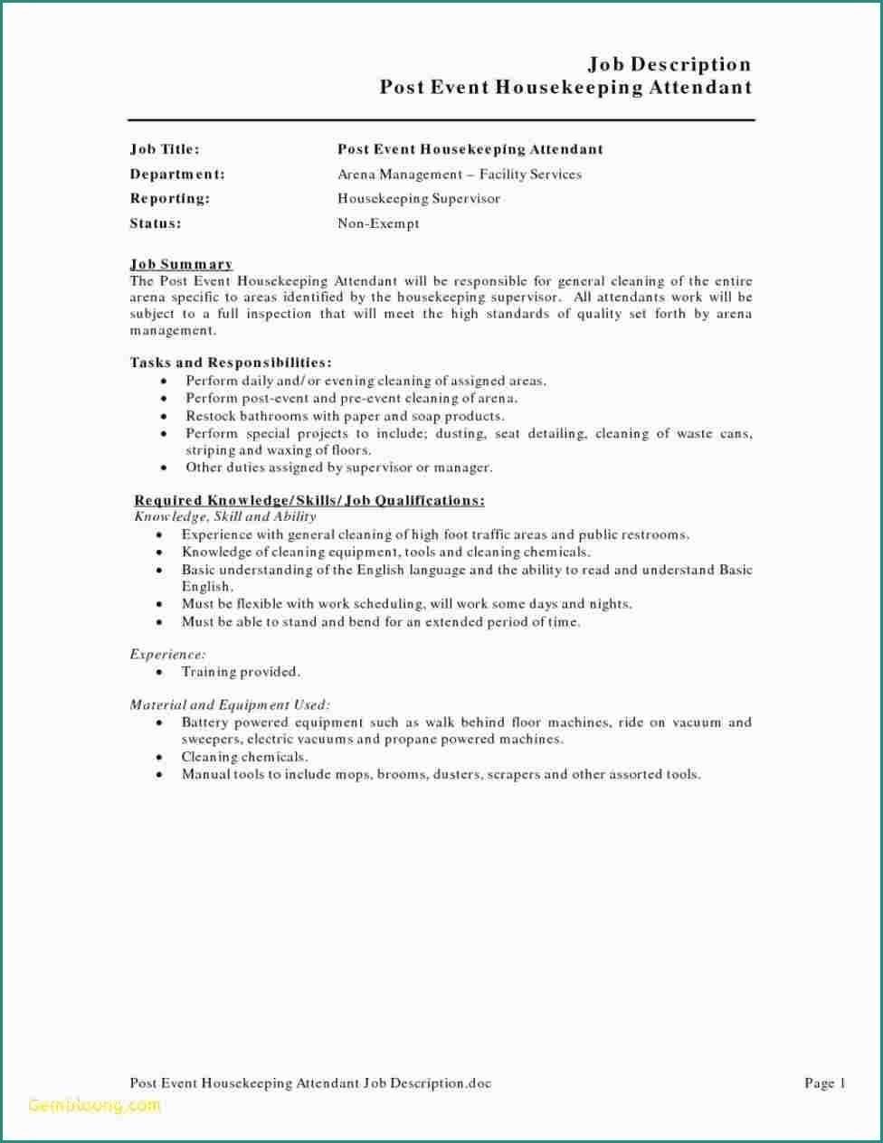 Duties Application Letter Of Housekeeping Supervisor | www.tollebild.com