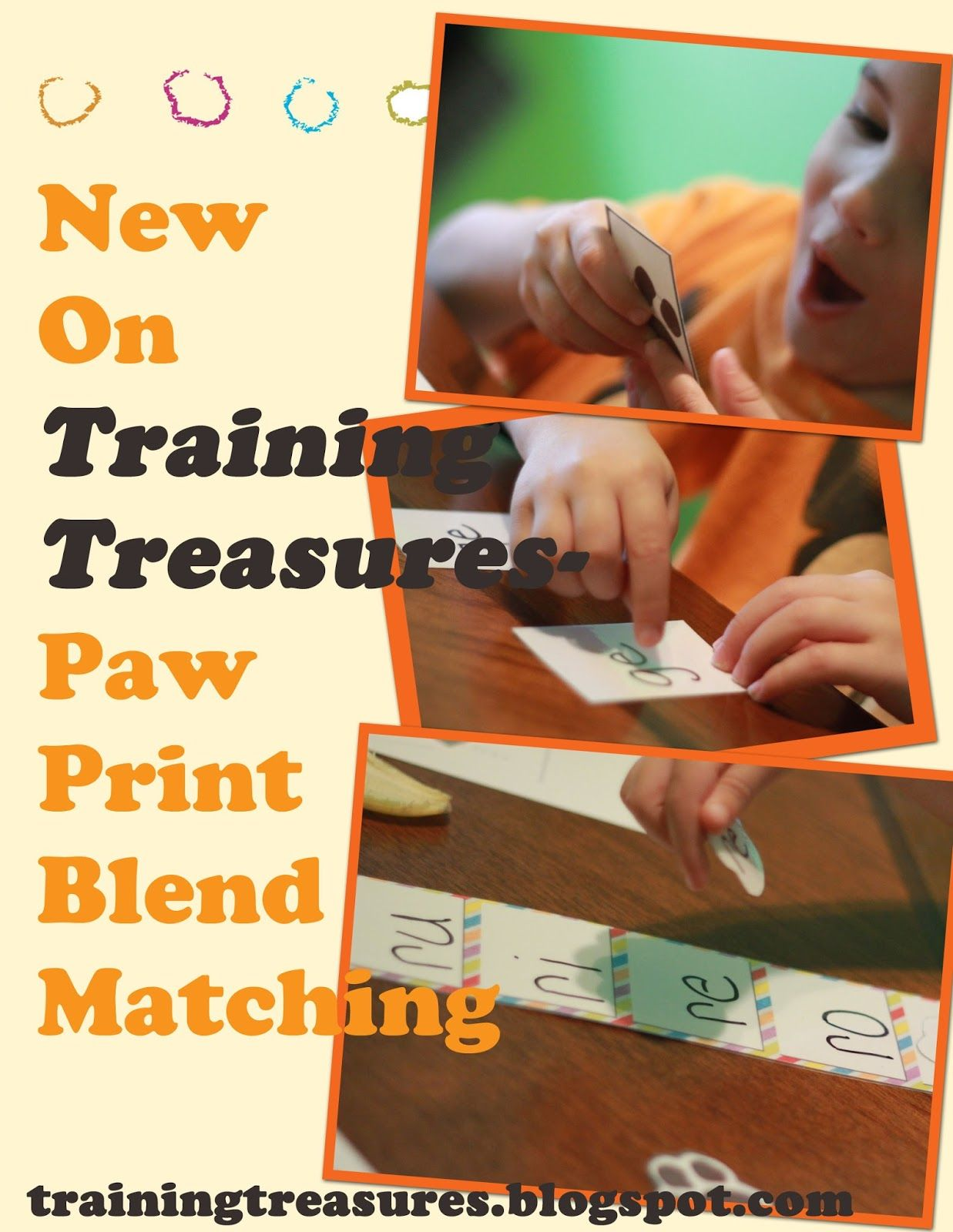 Training Treasures Paw Print Blend Matching