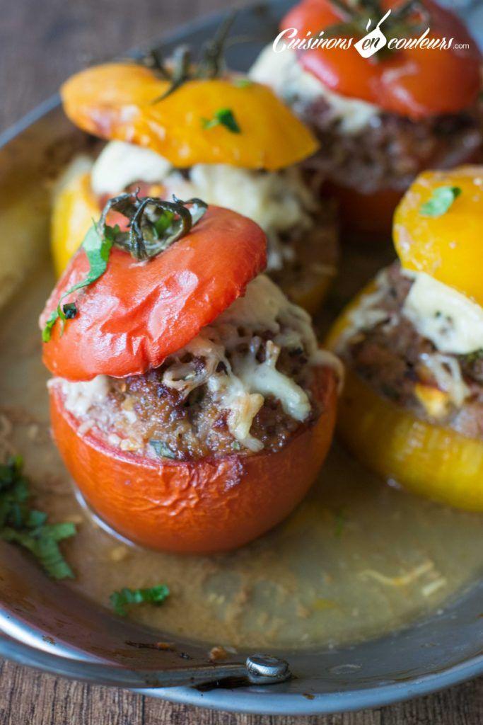 Tomates farcies à la viande hachée   Recettes de cuisine ...
