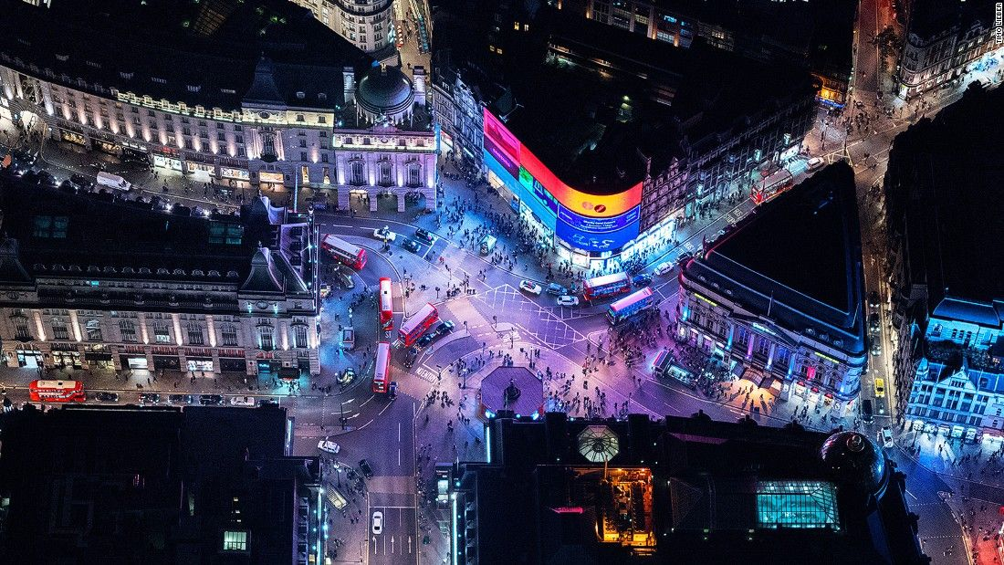 London At Night Aerial Photos Of A Neon City Aerial Photo London Night Aerial