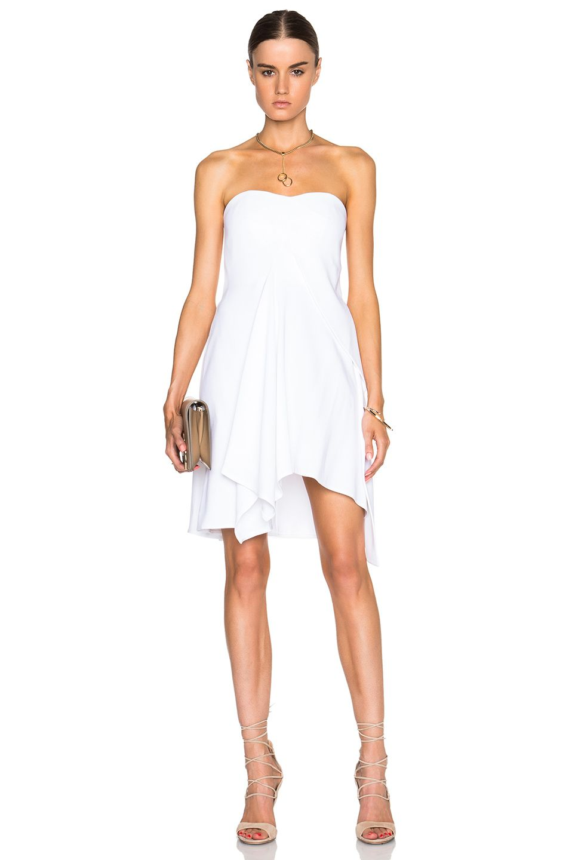 4b18531945 Stella McCartney Strapless Erin Dress in White