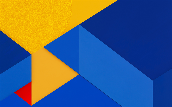 Download Wallpapers Yellow Blue Abstraction Lines Geometric Backgrounds Android Marshmallow Besthqwallpapers Com Geometric Background Abstract Wallpaper
