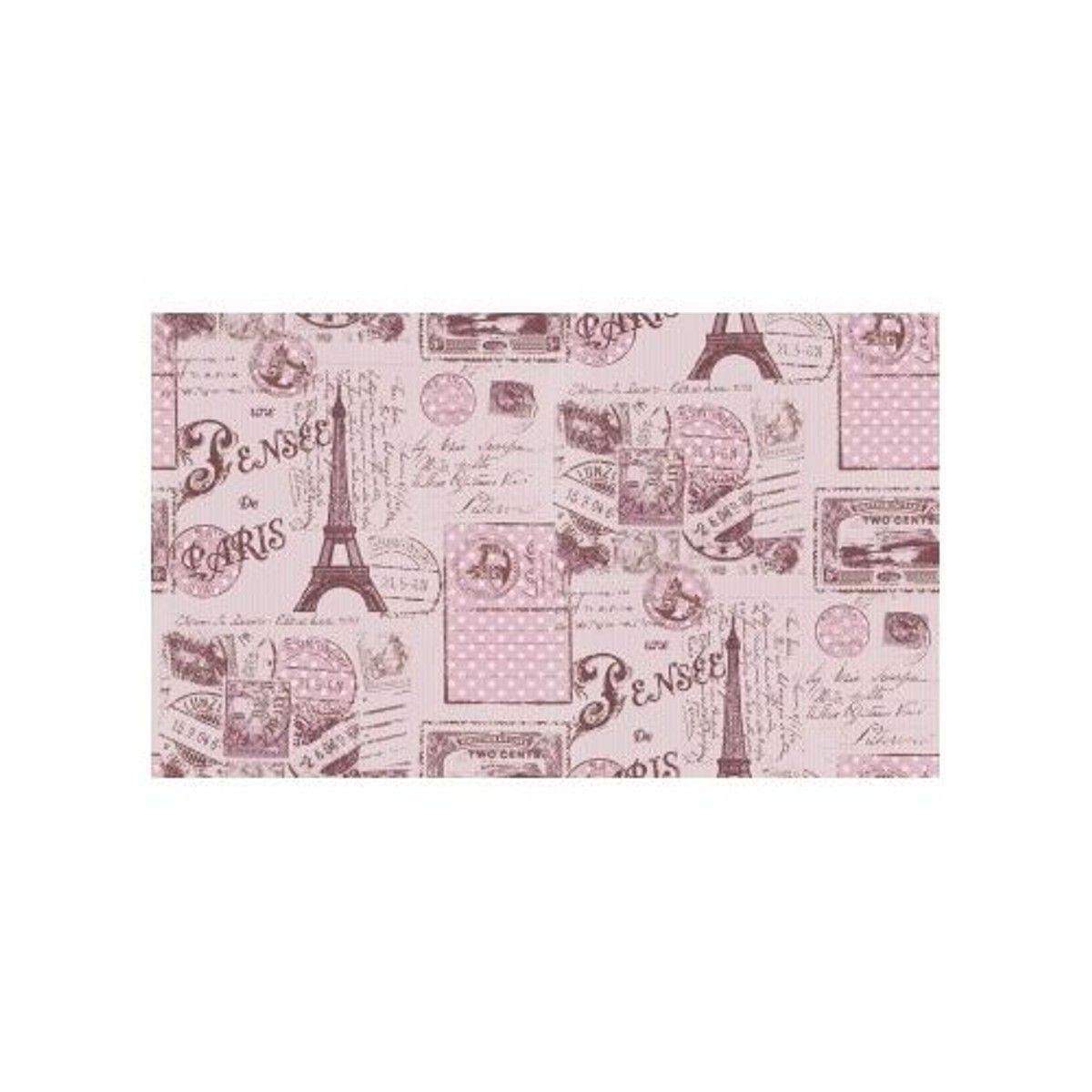 Papier Peint Carte Postale De Paris Taille Taille Unique