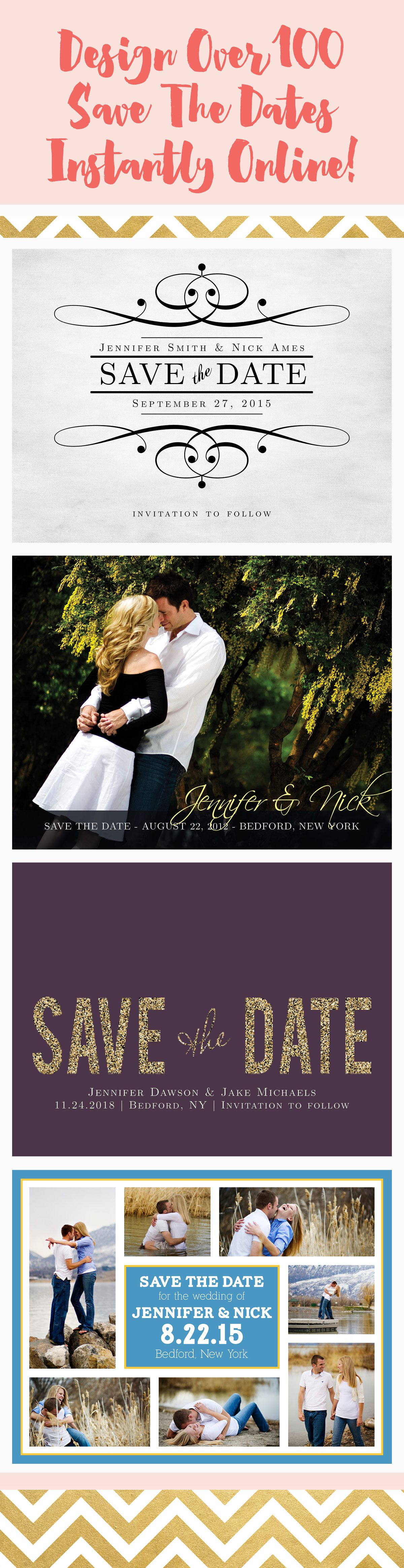 Make Each Design Your Own With Over Different Color Choices And - Design your own save the date template