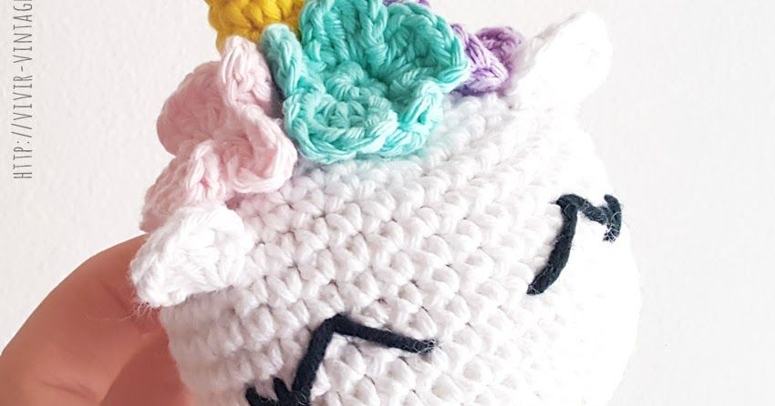 Como tejer en crochet (amigurumi) un dulce y tierno mini unicornio ...