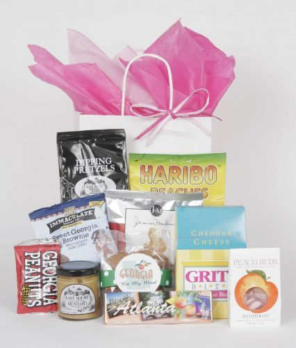 Out-of-town guests gifts! - with locally made products. Chico bags for everyone!