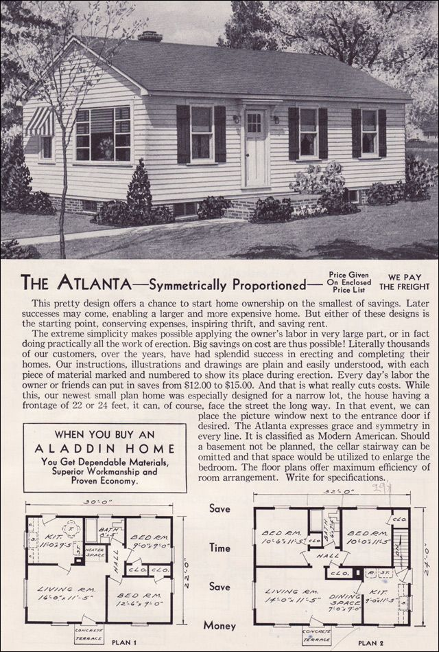 images about Old House Plans on Pinterest   Bungalow Floor     Aladdin Kit Houses   The Atlanta