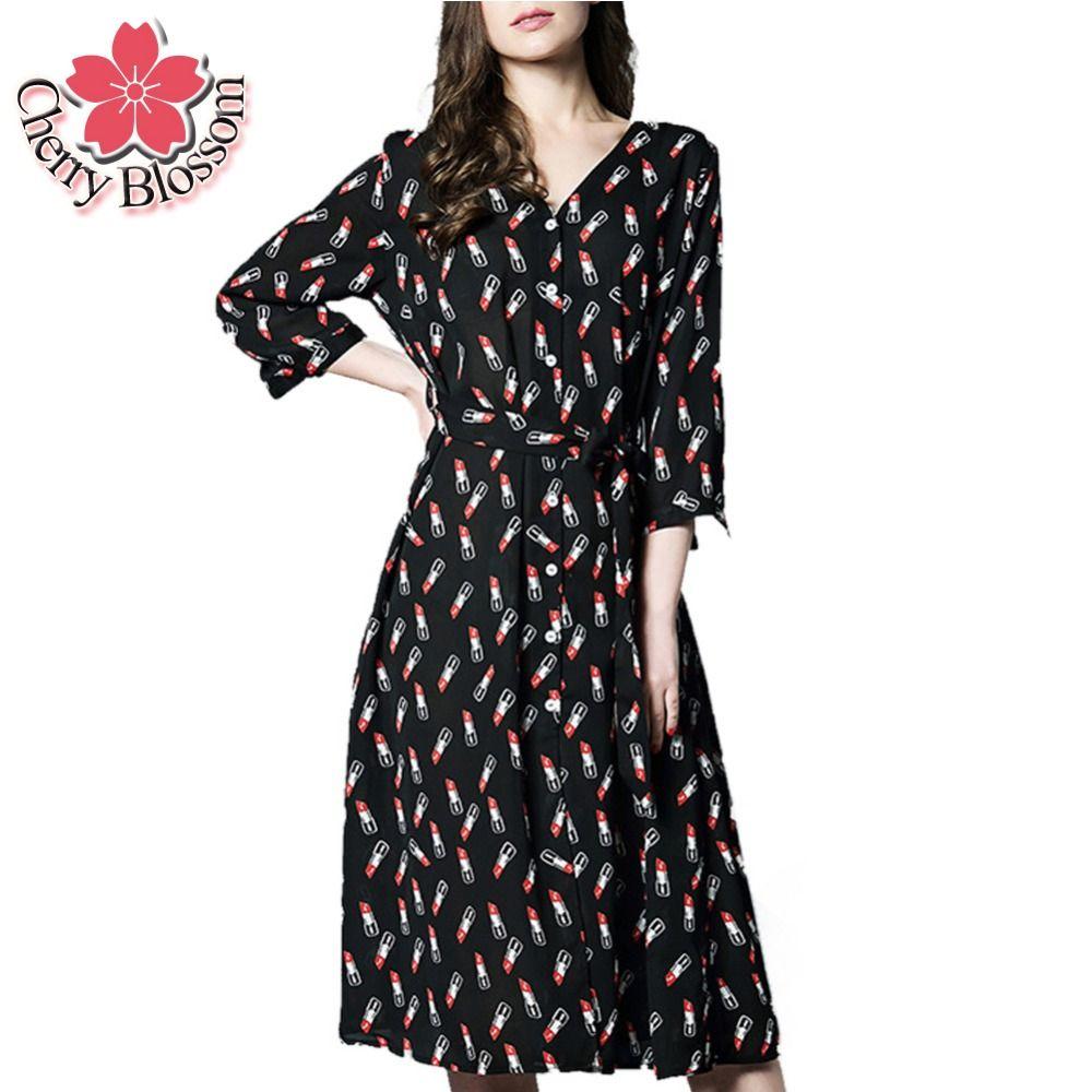 Xlxl women dress spring cute slim vneck printed plus size