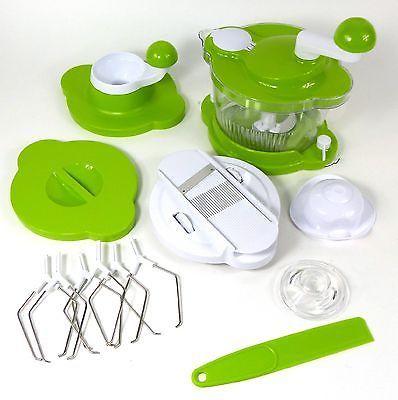 Genius Mix Cutter 20313 Küchenmaschine 8teilig Zerkleinerer Mixer - silver crest küchenmaschine