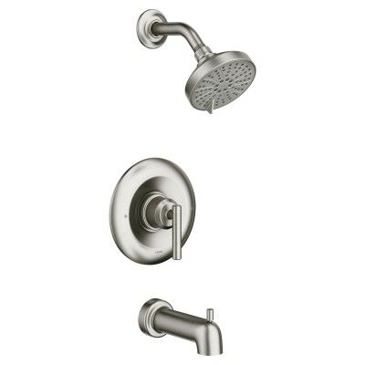 Gibson Spot Resist Brushed Nickel Posi Temp Tub Shower Tub