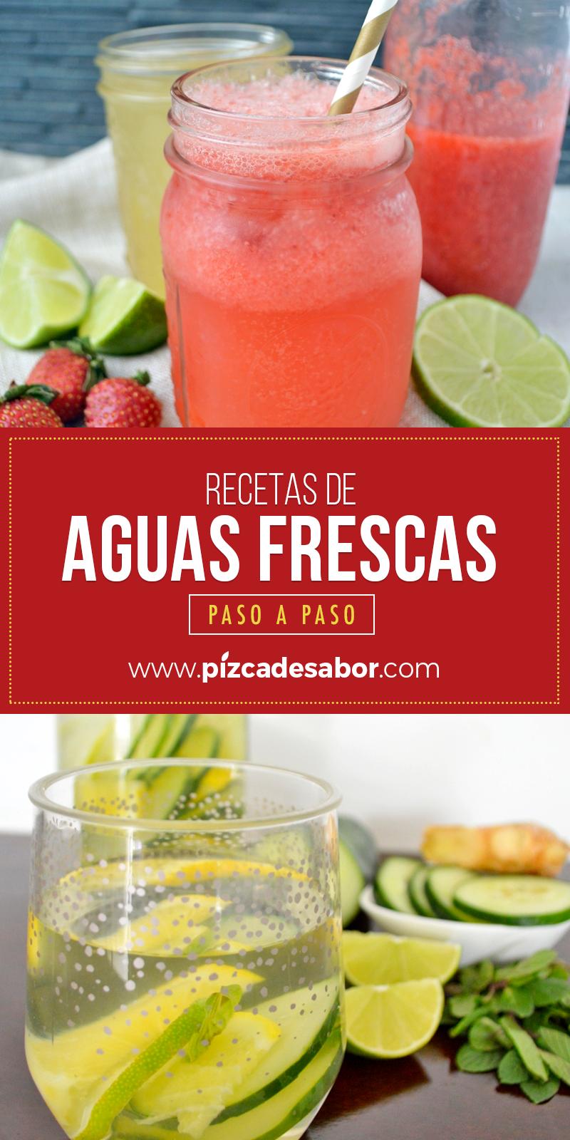 Recetas De Aguas Frescas Paso A Paso Aguas Frescas Recetas Recetas De Agua Agua De Frutas Recetas