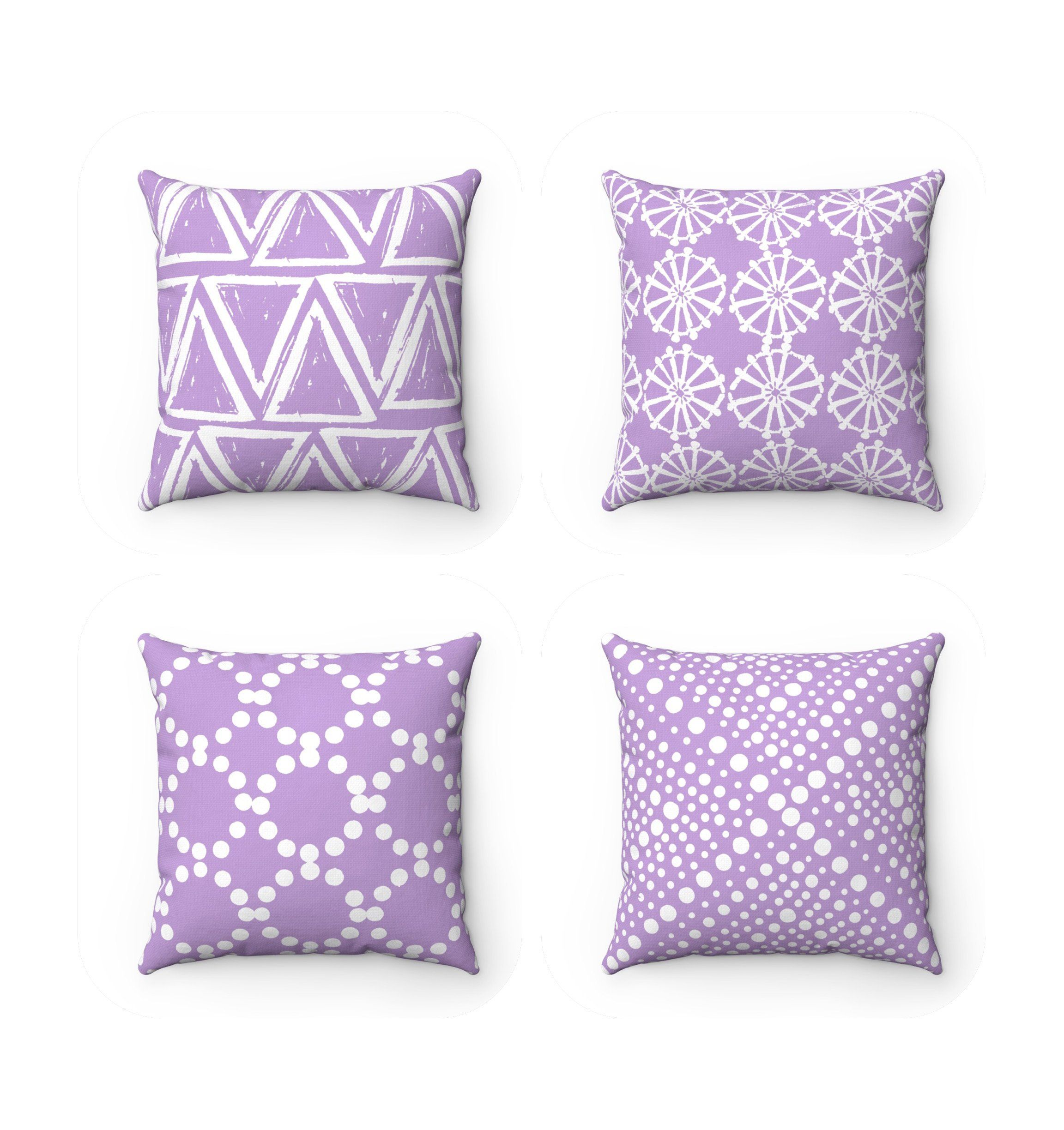 Outdoor Throw Pillow Lavender Patio Cushion 16 18 20 Inch