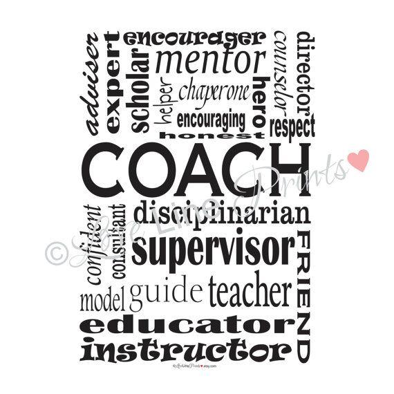 Personalized Coach Subway Art Print/Poster, Honest
