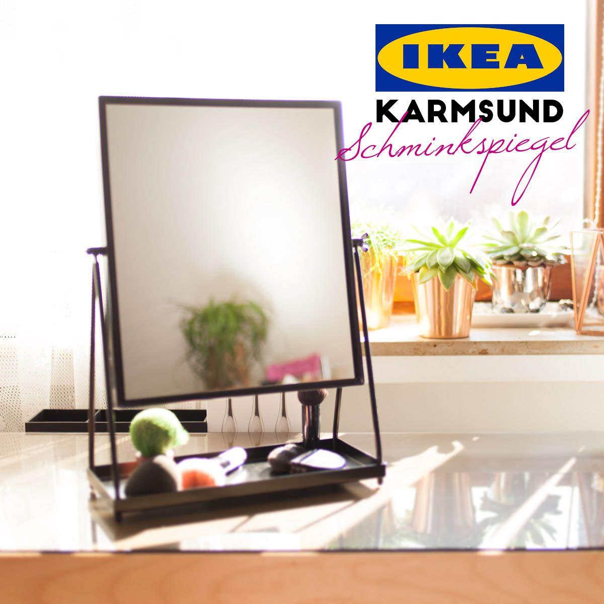Spieglein Spieglein auf dem Tisch mach mich wieder frisch! - IKEA Karmsund Schminkspiegel vs. IKEA Tysnes | http://ift.tt/2aaZuN6