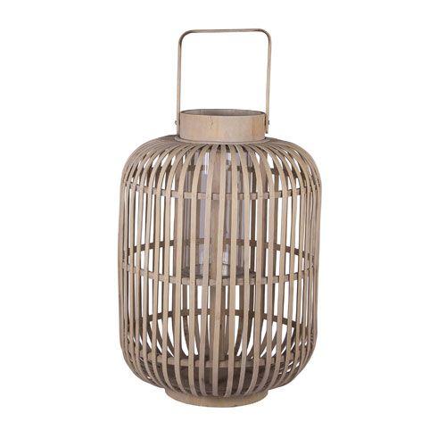 Lanterne en bambou modèle Sahara signée Broste.Trois formats sont proposés, en fonction de la taille mais aussi de la forme de la lanterne, en cylindre ou en poire.