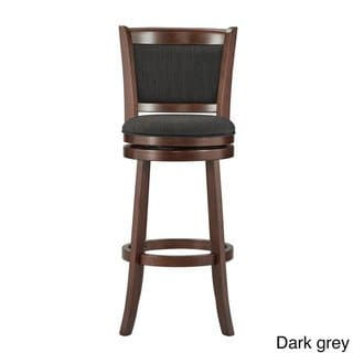 Prime Verona Panel Back Linen Swivel 29 Inch High Back Bar Stool Gmtry Best Dining Table And Chair Ideas Images Gmtryco