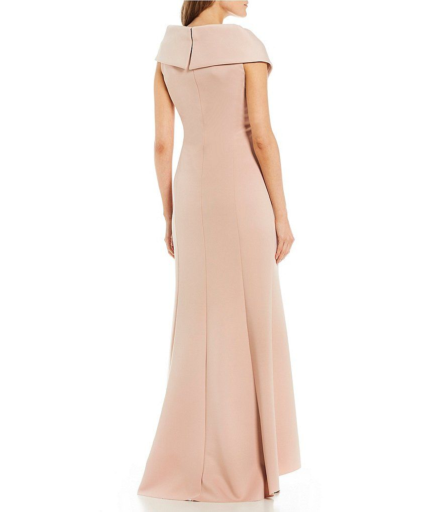 0f29b3bcb57 Jessica Howard Cap Sleeve Portrait Collar Gown in 2019