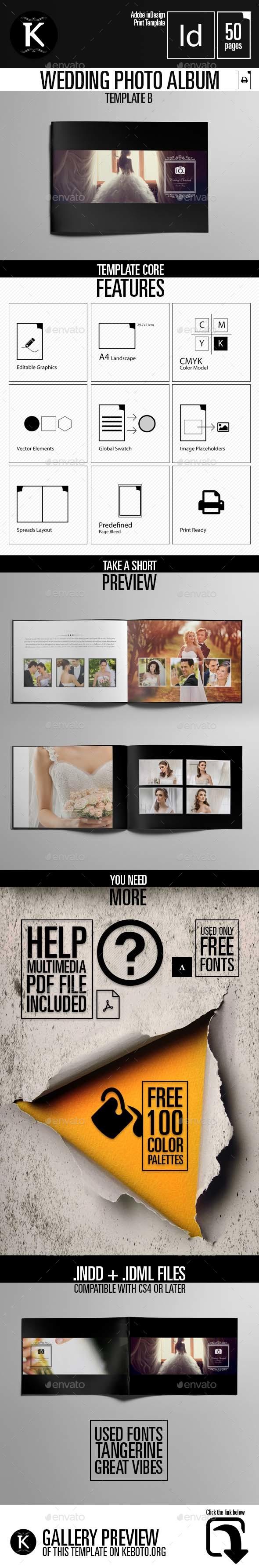 Wedding Album Template B