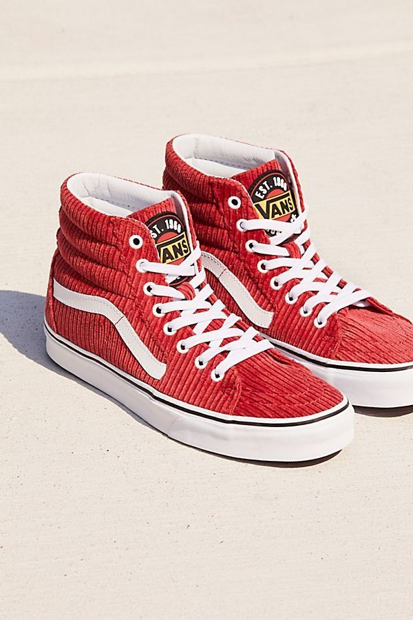 e00a80c4a8 Sk8-hi Corduroy Hi Top Sneaker - Red Corduroy High Top Van Sneakers