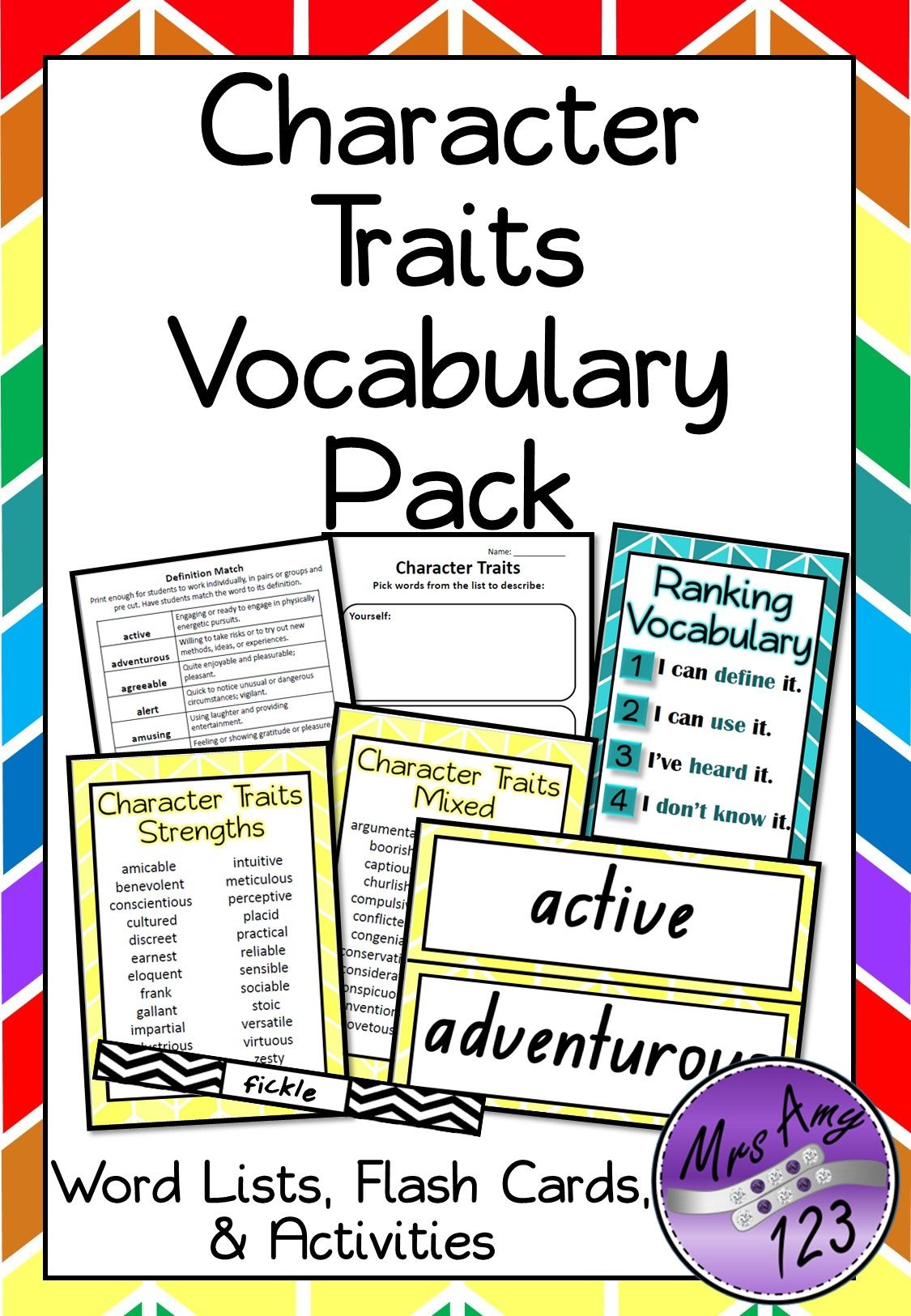 Workbooks the twits worksheets ks2 : Character Traits- Vocabulary Pack | DBT Year 3 - 6 Literacy ...