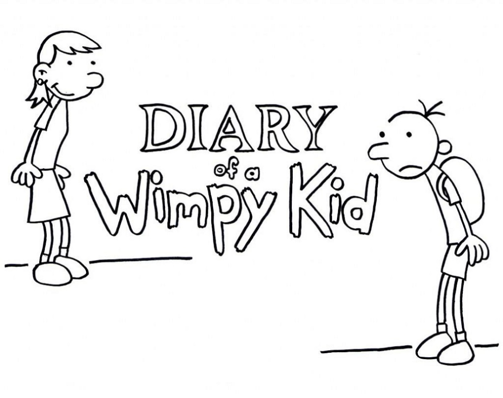 Diary Of A Wimpy Kid Coloring Pages Educative Printable Wimpy Kid Coloring Pages For Kids Childrens Books Activities
