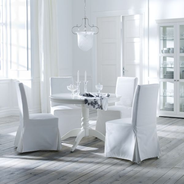 Start The New Year Off White HENRIKSDAL Washable Chair Covers Make It Easy Dining RoomsDining