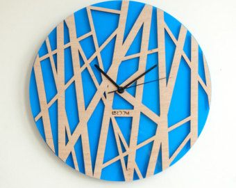 Handmade Wall Clock Tree Leaves The Inspiration For This Watch Was Found In  Tree Leaves : Fresh Spring Greenery, Morning Freshness And Natural Curves.