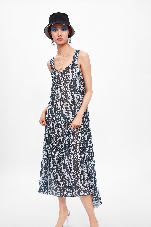 LONG PRINTED DRESS - View all-DRESSES-WOMAN  ZARA United States