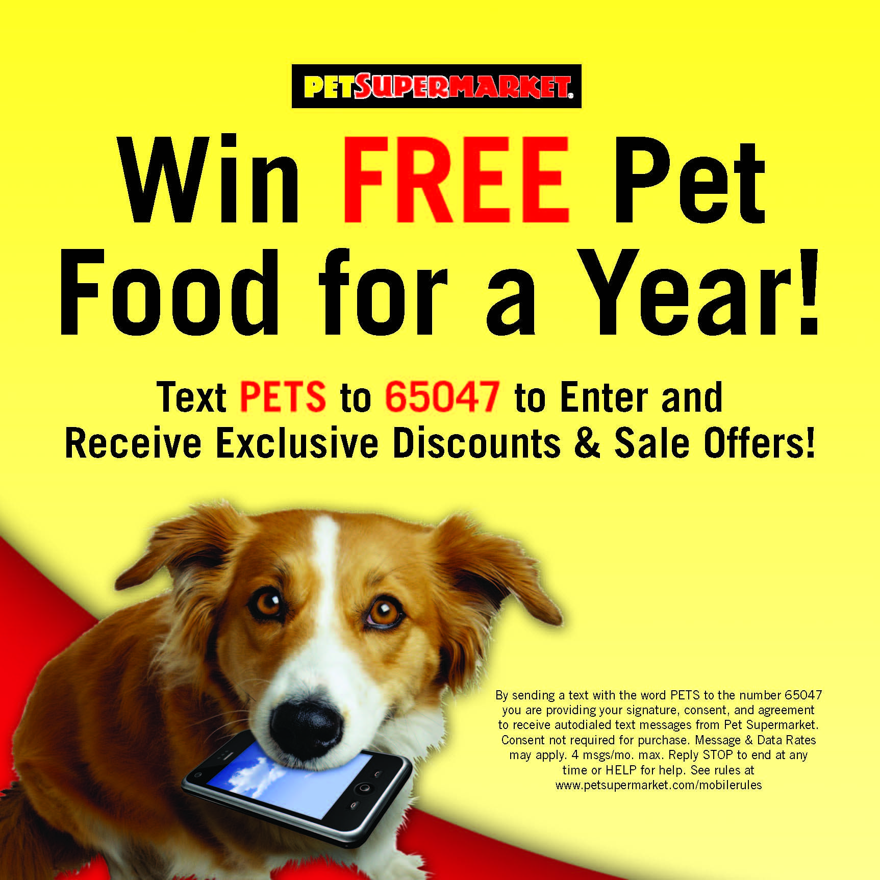 Have you joined our mobile VIP list yet? Just text PETS to