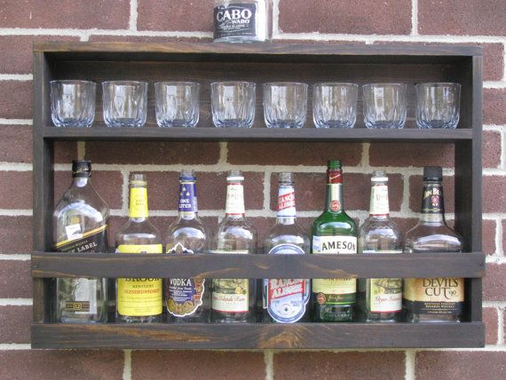 Hanging Liquor Cabinet Rustic Liquor Rack By Coolandusefulthings