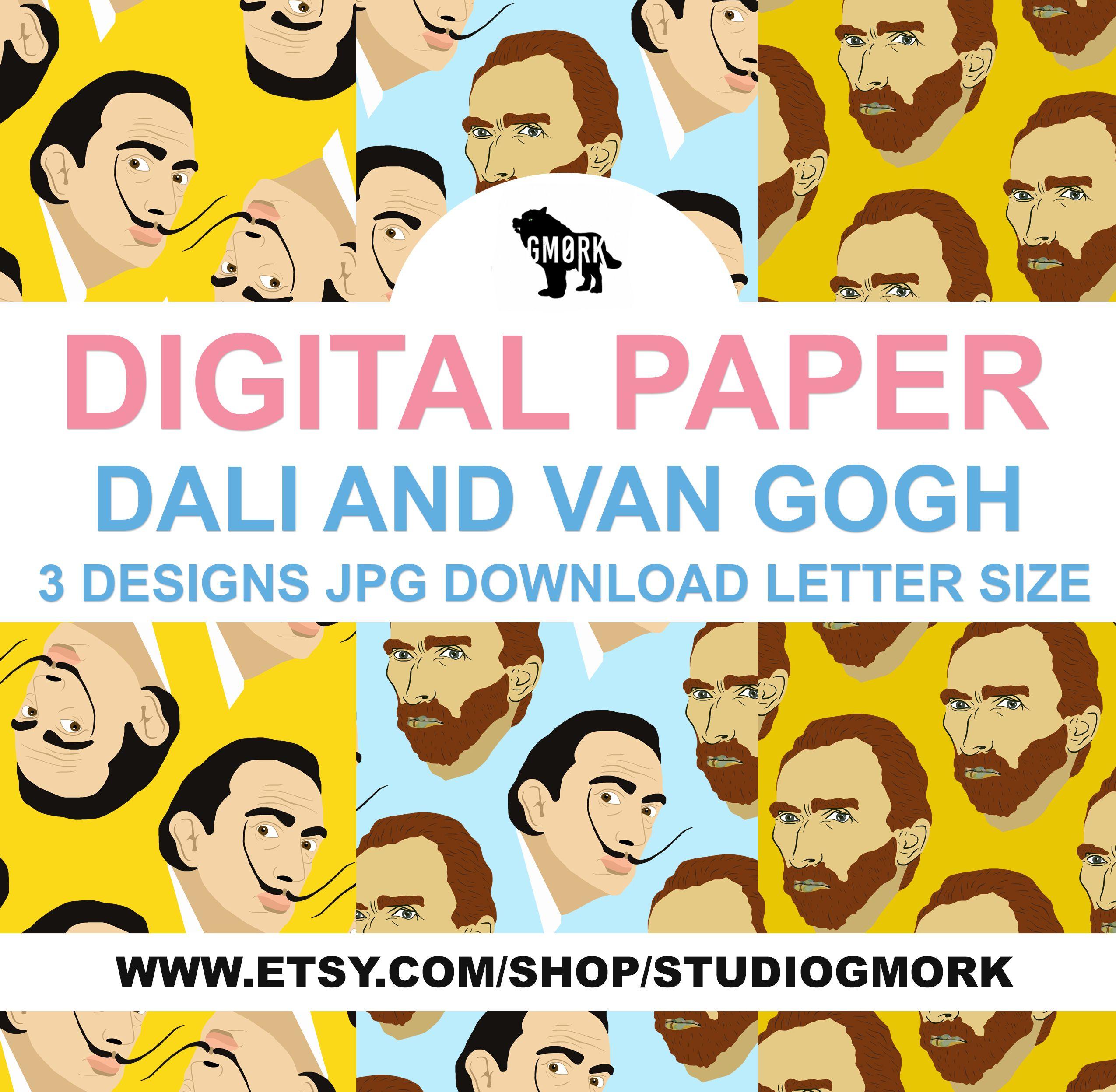 Salvador Dali And Vincent Van Gogh Printable Paper