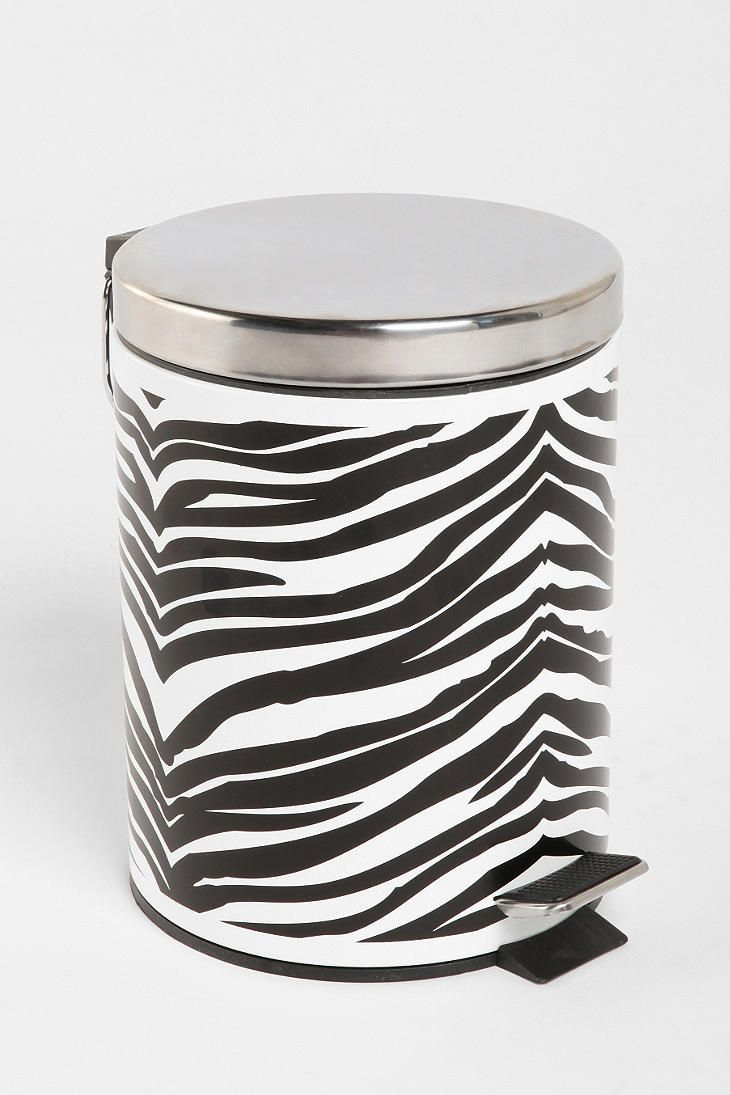 Zebra Step Trashcan goes with my studio interior.