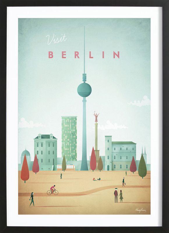Berlin Von Henry Rivers Als Poster Im Holzrahmen Jetzt
