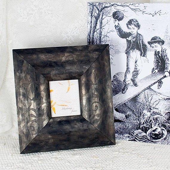 Silky Black Photo Frame. $28, #frames, #room-decor, #black, #etsy, #mackenzieframes, #photo-display
