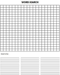Printable blank word search zrom crossword print free blank crossword puzzle template 20 square maxwellsz