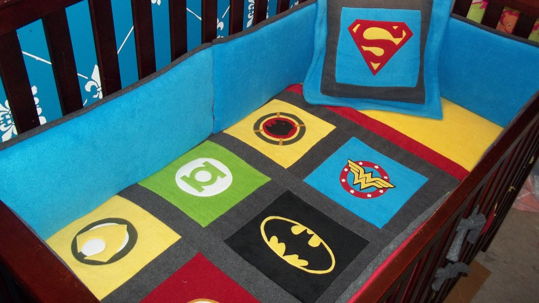 Marvel Avengers Crib Set Dc Comics Blankets Superhero