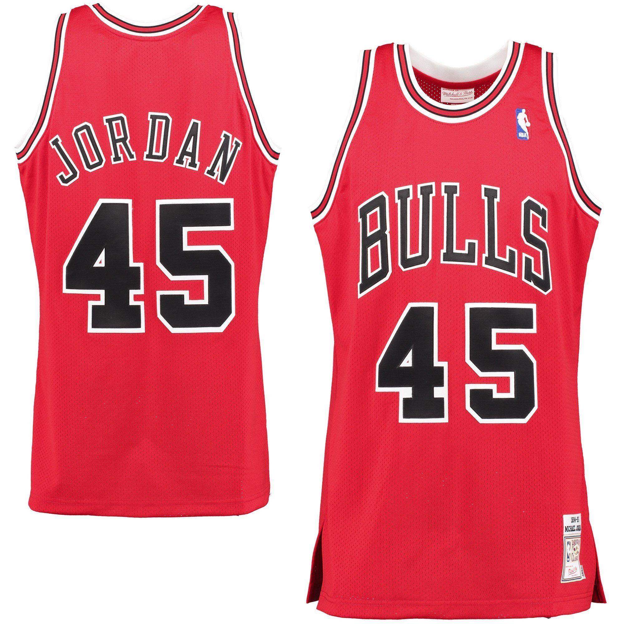 Chicago Bulls Michael Jordan #45 Jersey