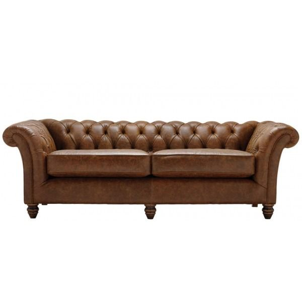 Cambridge 3 Seater Sofa In Leather. This Elegant Sofa Features Hand Buttoned  Arms And Back. 5 Year Warranty, Fast UK Delivery And 21 Day Returns.