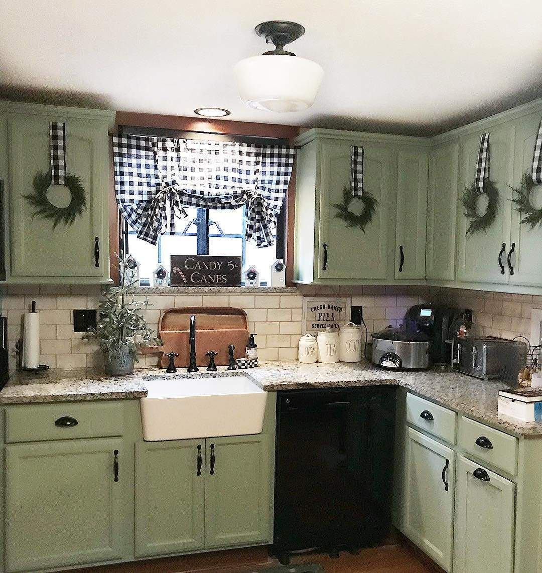 Heather On Instagram Thank You Liz From Casagrella For The Most Adorable Idea With The Targetsd New Kitchen Cabinets Country Kitchen Green Kitchen Cabinets
