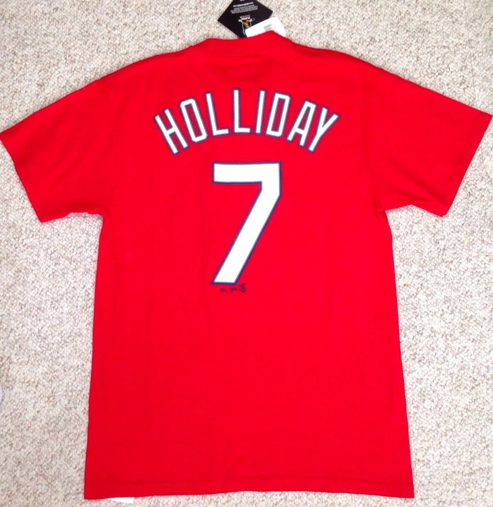 New 28 ST LOUIS CARDINALS MATT HOLLIDAY  7 T-SHIRT
