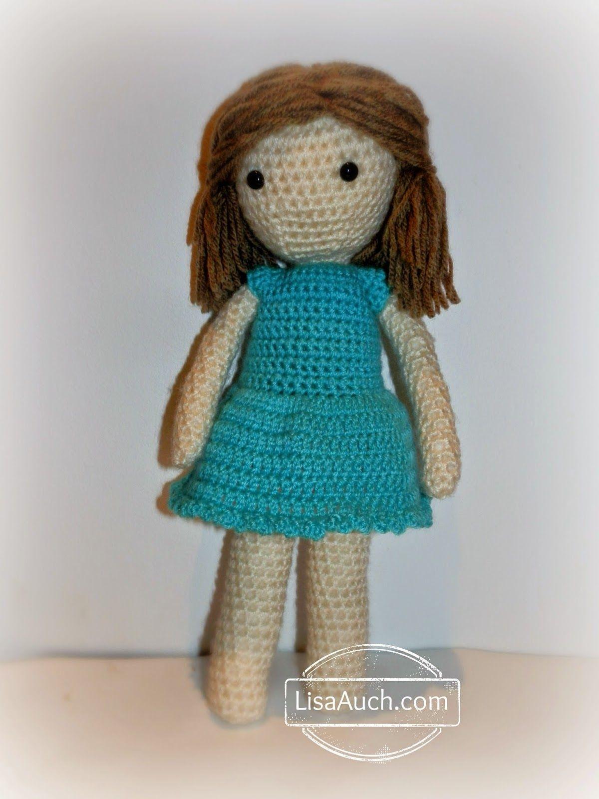 In the Blue Little Crochet Dolls Dress Free Pattern | Crochet dolls ...