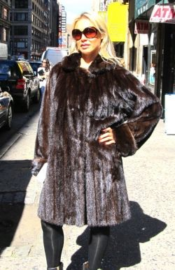 Pre-Owned Ranch Mink 3/4 Coat This is one of the most popular