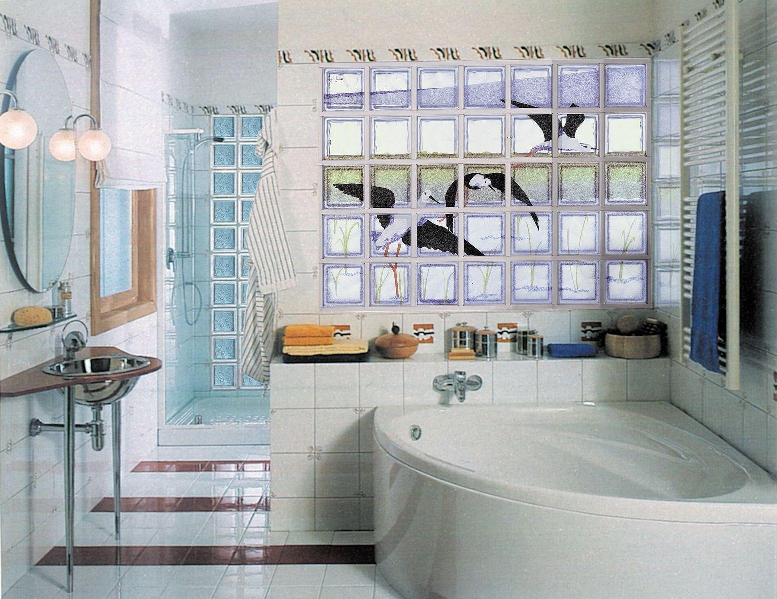 Fused colored glass block murals | Blocks de vidrio | Pinterest ...