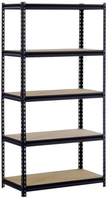 heavy duty storage rack shelf unit garage metal organizer adjustable shelves new edsal - Heavy Duty Storage Shelves