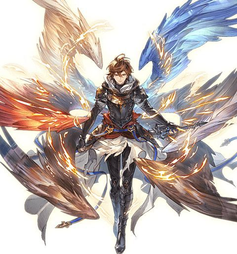 Ron Works For Lord Angel Has Nearly Light Speed Flight Can Send Out Holy Fir Angel Anime Fantasy Fantasy Character Design Anime Character Design