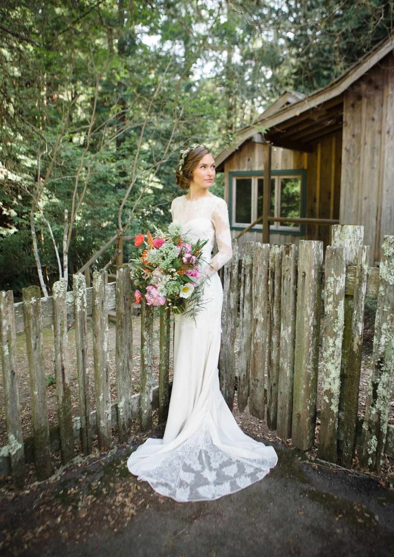 Romance In The Redwoods A Forest Wedding Wedding Dresses Vintage Inspired Wedding Dresses Mod Wedding [ 1840 x 1300 Pixel ]