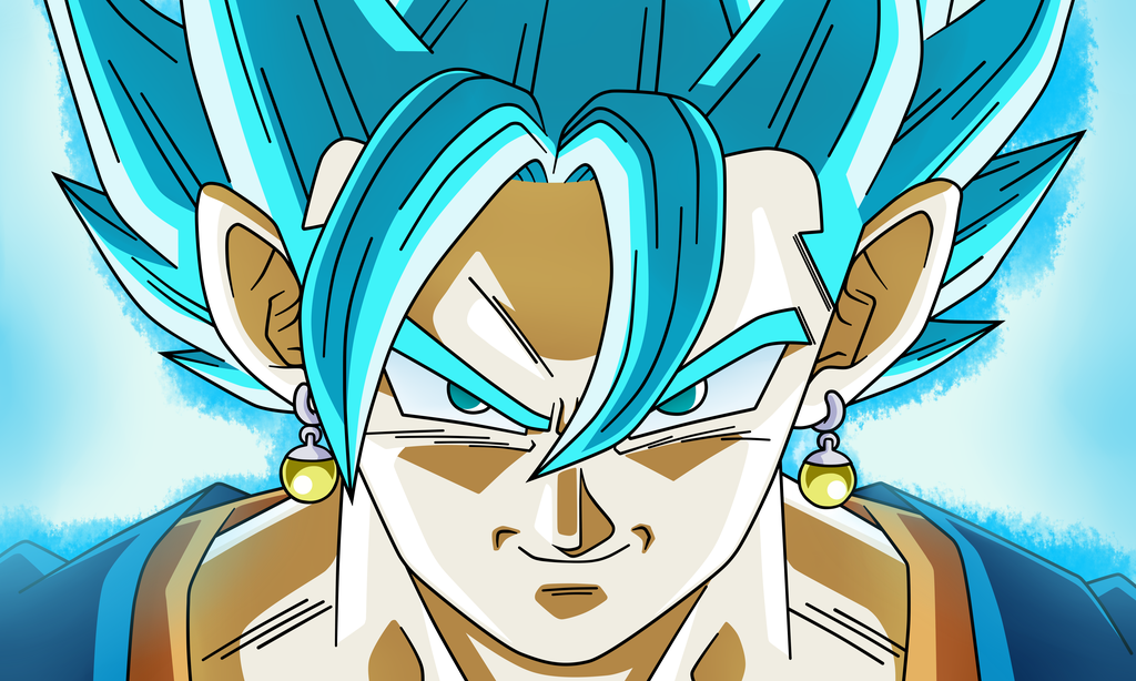 Vegetto Super Saiyajin Blue by NekoAR Dragones, Dragon