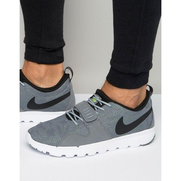 more photos f65c9 f44ba Nike SB Trainerendor Trainers In Grey 616575-007 (£53) ❤ liked on Polyvore  featuring men s fashion, men s shoes, men s sneakers, grey, nike mens shoes,  ...